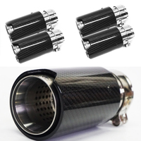Free shipping 4PCS Brand New Car Carbon Fiber Stainless Exhaust End Tail Tips 2.5'' in, 3.2'' out for BMW M3/ M4