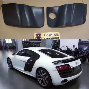 Carbon Fiber Racing Side Door Fenders Blade Panels Flares umper 2Pcs For Audi R8 V8 V10 2 Door 2008 - 2015 Car Styling