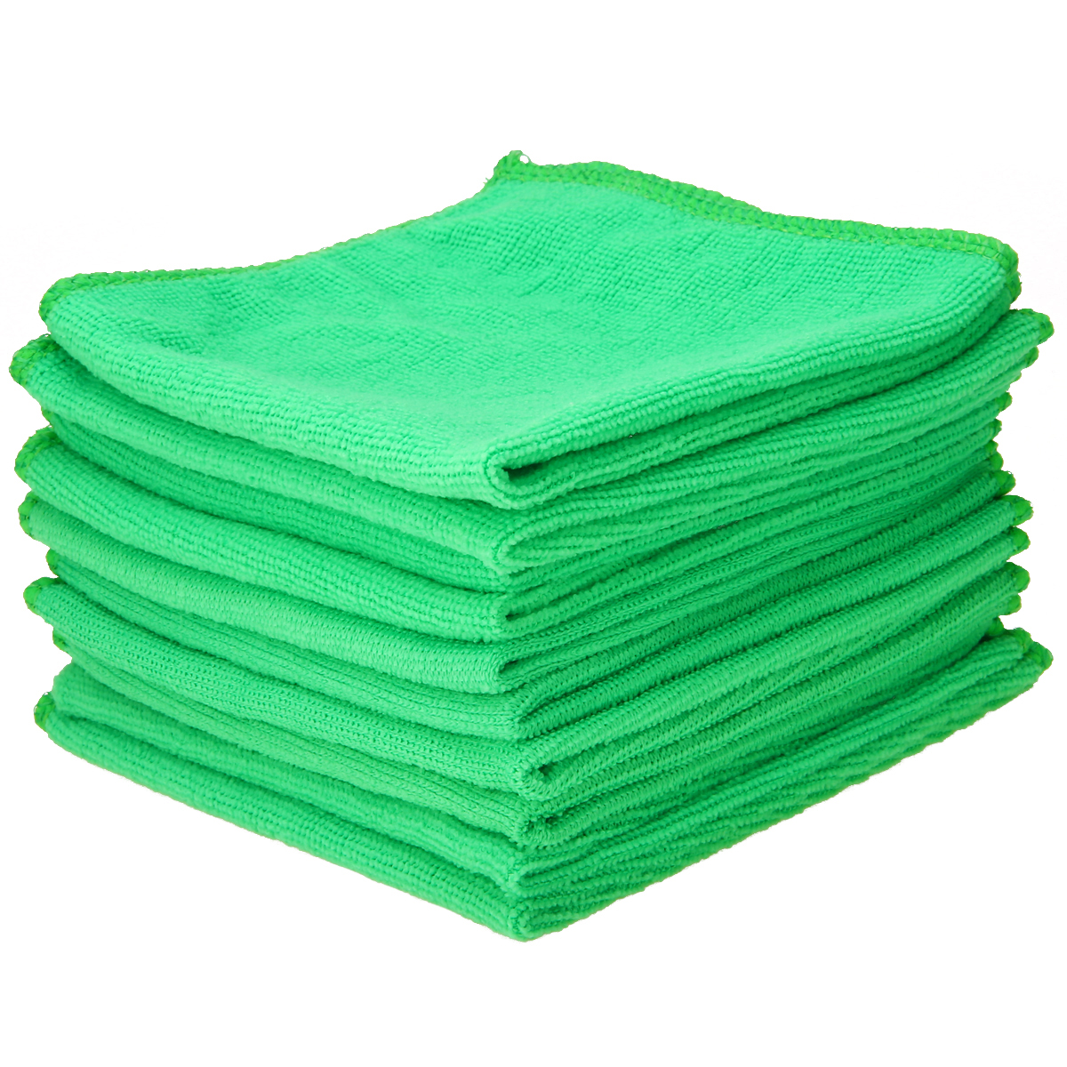 Image 3 - Mayitr 1Set 10X Green Microfiber Cleaning Auto Car Detailing Soft Microfiber Cloths Wash Towel Duster Home Clean 25*25CM-in Sponges, Cloths & Brushes from Automobiles & Motorcycles