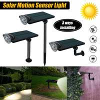 3 Modes 10 LED Solar Light PIR Motion Sensor Wall Light Outdoor Garden Decoration Stair Pathway Security Street Emergency Light