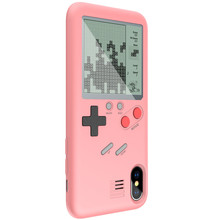 for iphone 7 retro Tetris Soft Cover play Game Console stress reliever Gameboy case