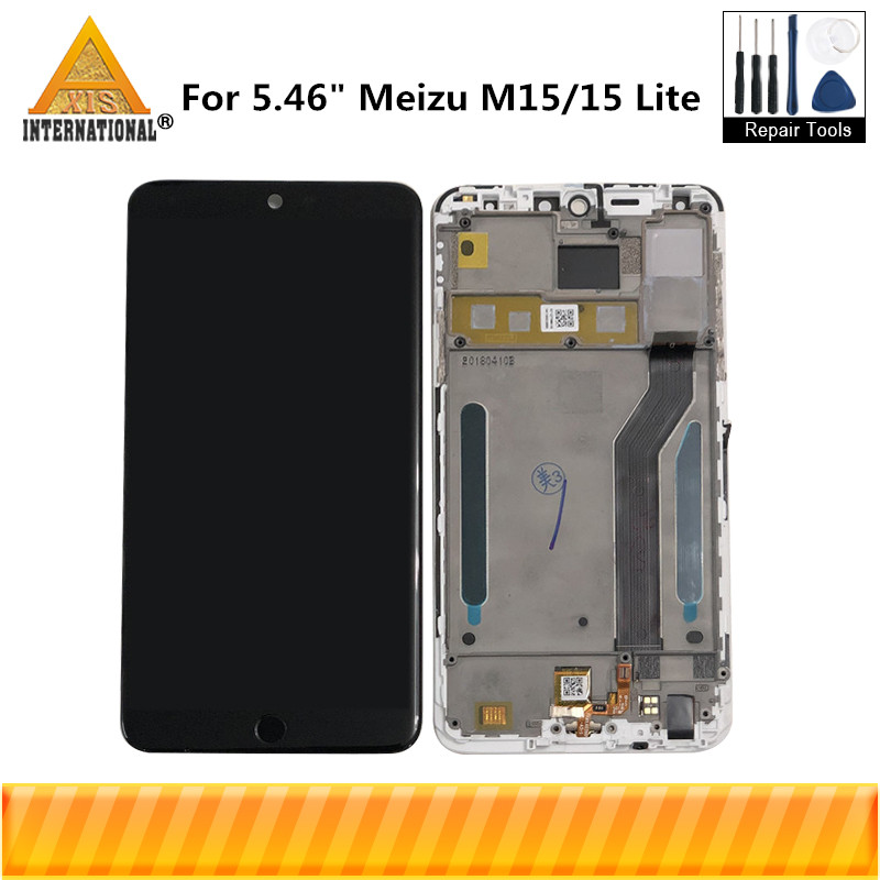 Original Axisinternational For 5 46 Meizu M15 Snapdragon 626 LCD Screen Display Touch Panel Digitizer For