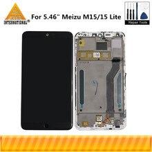 """オリジナル Axisinternational ため 5.46 """"魅 M15 Snapdragon 626 Lcd スクリーンディスプレイ + タッチパネルデジタイザ魅 15 Lite フレーム"""