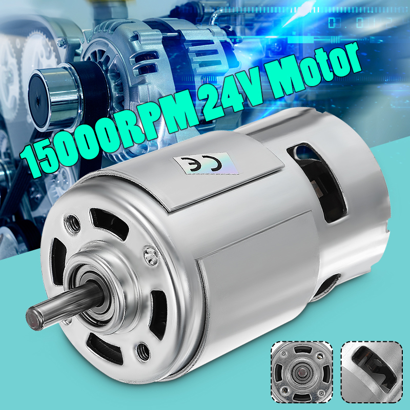 DC 12V 24V 15000RPM High Speed Large torque DC 775 Motor Electric Power Tool new Motors & Parts DC Motor new 12v 3000 dc high speed electric motors turn the long axis of the brush motor r5166 per minute