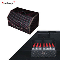 Car Trunk Organizer Stowing Tidying Auto Storage Box Car Trunk Bag Interior Accessories For Peugeot 3008 2008 Volvo S60
