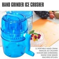 1L Draagbare Hand Crank Handleiding Ijs Crusher Scheerapparaat Kids Versnipperen Sneeuw Cone Maker Machine Keuken