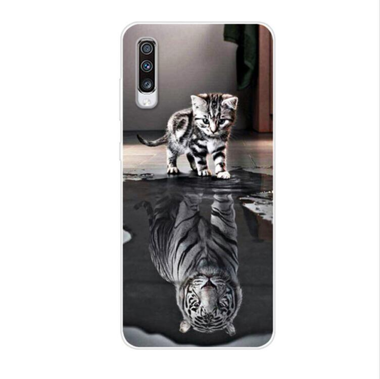 6 7 quot For Samsung Galaxy A70 Case Silicone Cute Clear Back Cover Soft TPU Phone Case For Samsung A70 Case A705F Coque A 70 Funda in Fitted Cases from Cellphones amp Telecommunications