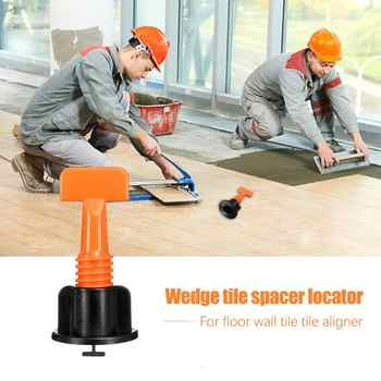 50pcs/set Level Wedges Tile Spacers for Flooring Wall Tile Leveling System Locator Spacers Plier Mini Tile Leveler bracket