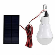 Portable Solar Lamp LED Fishing Light Bulb 110Llumens Solar Panel Rechargeable Outdoor Lighting Tent Camping Lamp