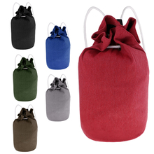 Canvas Sport Bags Drawstring Backpack Basketball Carry Bag Drawstring Ball Sackpack Fitness Bags Training Backpack Universal canvas drawstring colour block backpack