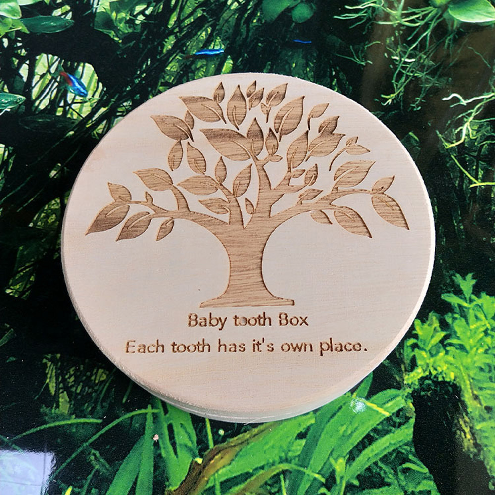 1*Wood Tooth Box Kids Infant Tooth Box Organizer Baby Save Milk Teeth Wood Storage Memory Box