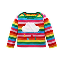 Toddler Kids Girls Rainbow White Clouds Long Sleeve Pullover Tops T-Shirt Sweatshirt Autumn Winter Baby Tops(China)