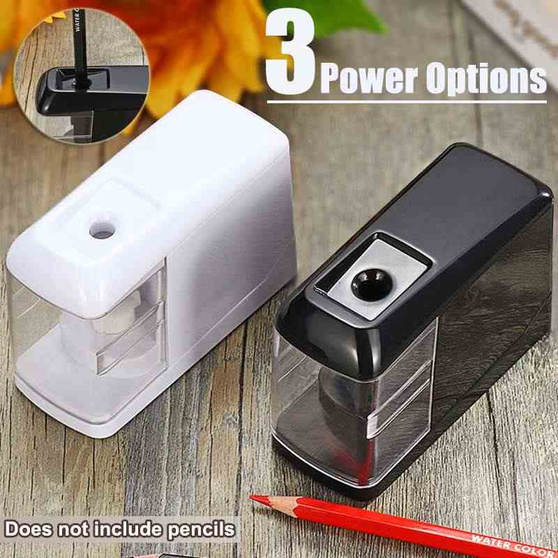 مكتب طالب براية أقلام كهربائية ل 0-8mm أقلام استخدام البطارية التلقائي تعمل بالطاقة الإلكترونية براية أقلام