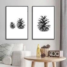 Абстрактные минималистичные настенные художественные черно белые