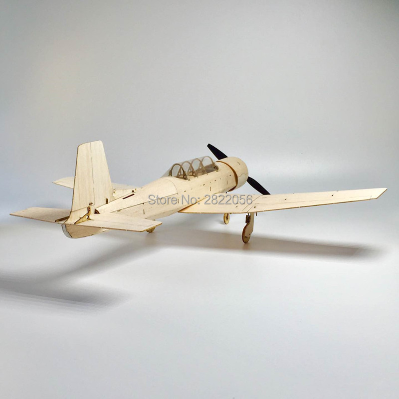 Mini RC Plane Laser Cut Balsa Wood Airplane Kit Mentor CJ6 Model Building Kit in RC Airplanes from Toys Hobbies