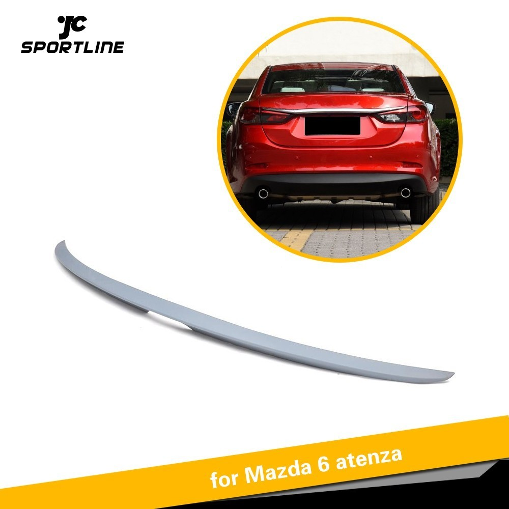 Rear Wing <font><b>Spoiler</b></font> For <font><b>Mazda</b></font> <font><b>6</b></font> Atenza <font><b>2014</b></font> 2015 2016 ABS Trunk <font><b>Spoiler</b></font> image