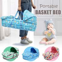 Portable Baby Bed Baby Bassinet Bed for 0 8Month Baby Basket Comfortable Newborn Travel Bed Cradle Safety Infant Bassinet Crib