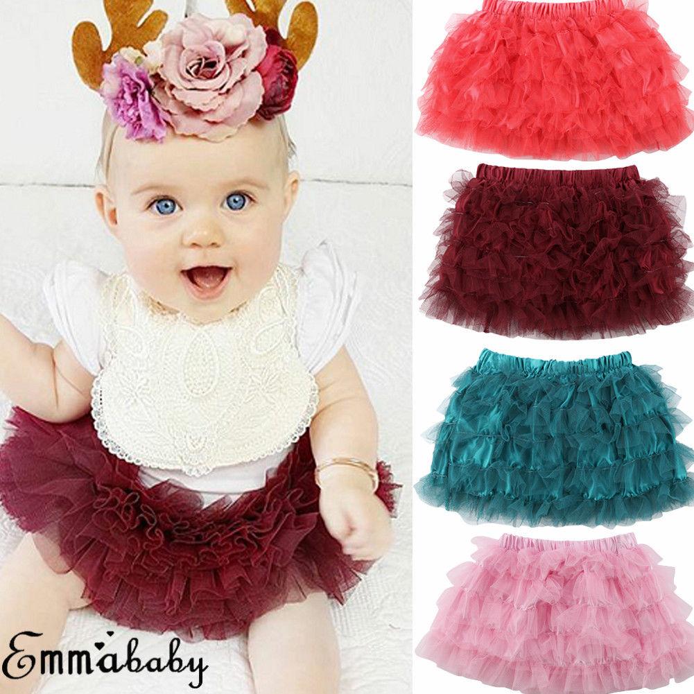 Herzhaft Casual Kräuselte Mesh Rock Für Baby Mädchen Sommer Kleidung Elegant Im Geruch