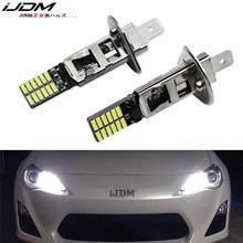 IJDM автомобиля 12 V 6000 k белый 24-SMD-4014 H3 светодиодный лампы для противотуманных фар или H1 светодиодный для автомобилей дневного лампы красный желтый синий голубой лед