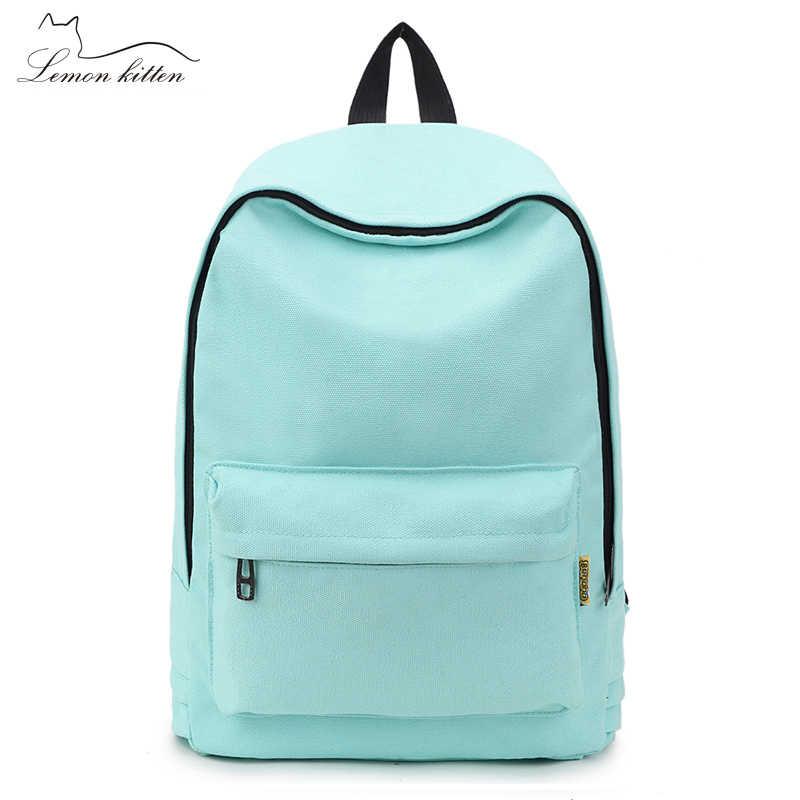 Modny plecak kobiet plecak jednolity kolor podróży dorywczo tornister dla nastoletniej dziewczyny nowy plecak kobiet plecak plecak 2019