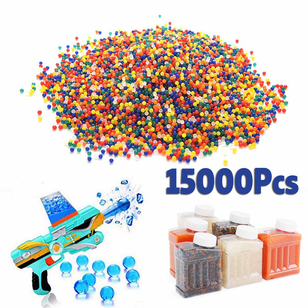 15000pcs/bag Crystal Soil Hydrogel Gel Polymer Water Beads Flower/Wedding/Decoration Maison Growing Water Balls Big Home Decor