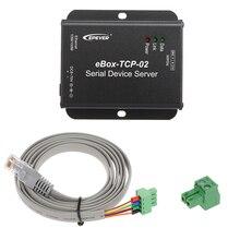 Последовательный порт RS485 eBOX-TCP-02 последовательный порт сетевой сервер Ethernet преобразующий модуль для солнечного контроллера и регулятора