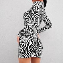 Bandage Bodycon Long Sleeve Mini Dress