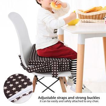 Cojín elevador para silla de comedor de bebé, cojín para asiento de silla extraíble para niños, cojín de elevación para silla de niño, cojín para silla de paseo