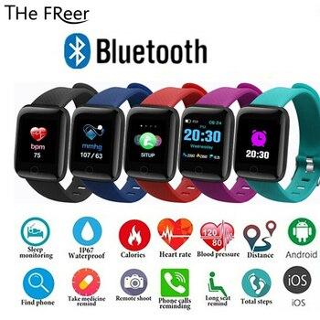 Smart Watch for Men Women child kids Clock ID116 Smart Wearable Device Sport Fitness Activity Tracker Heart Rate Wristwatch