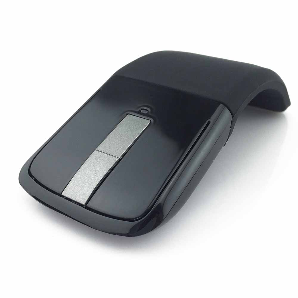 IG-2.4Ghz Foldable Wireless Mouse Folding Arc Touch Slim Mouse Computer Gaming Mouse Mice For Microsoft Surface PC Laptop