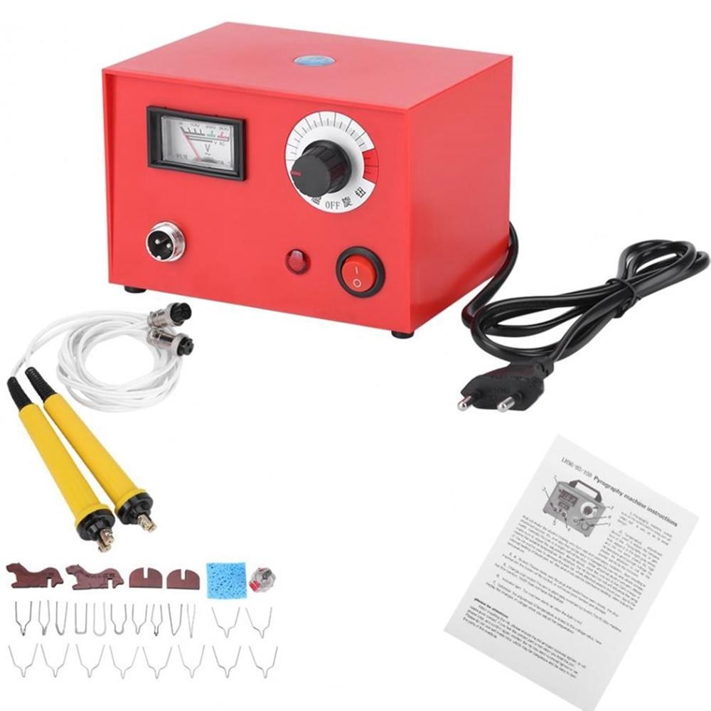 EU Plug Wood Burning Machine 220v 50w Pyrography Pen Machine Kit Set Wood Crafts Burning Tools
