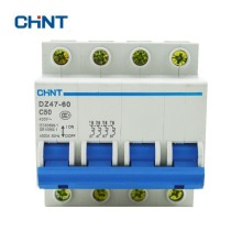 CHINT Miniature Circuit Breaker 50A Household Air Switch Mini Circuit Breaker Voltage Protective Device DZ47-60 4P C50 MCB [zob] nader ndb2 63 c50 3 of2 longsure breaker 3p 50a to ensure genuine 5pcs lot