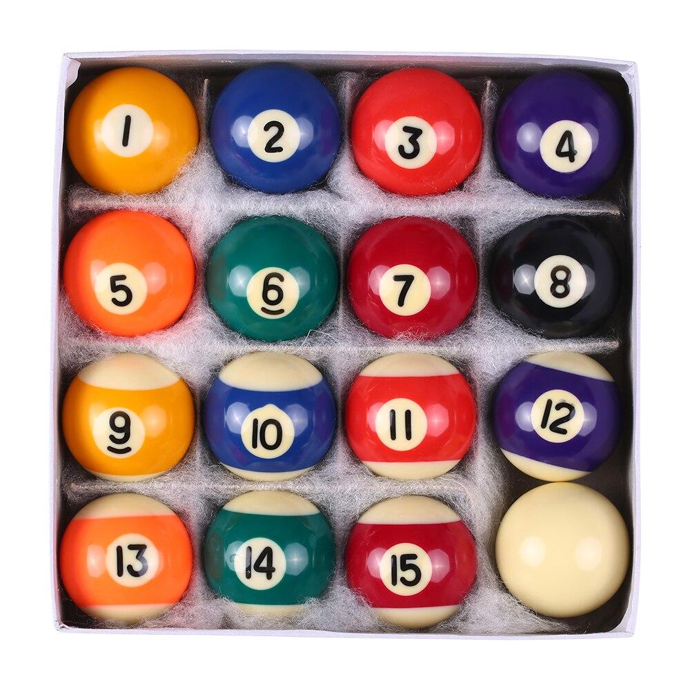 LIXADA 25MM / 38MM Billard Balls Children Billiards Pool Table Balls Set Polyester Resin ...