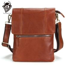 100% Leather Vintage Fashion Mens Bag Casual Business High Quality New Travel Crossbody Promotion