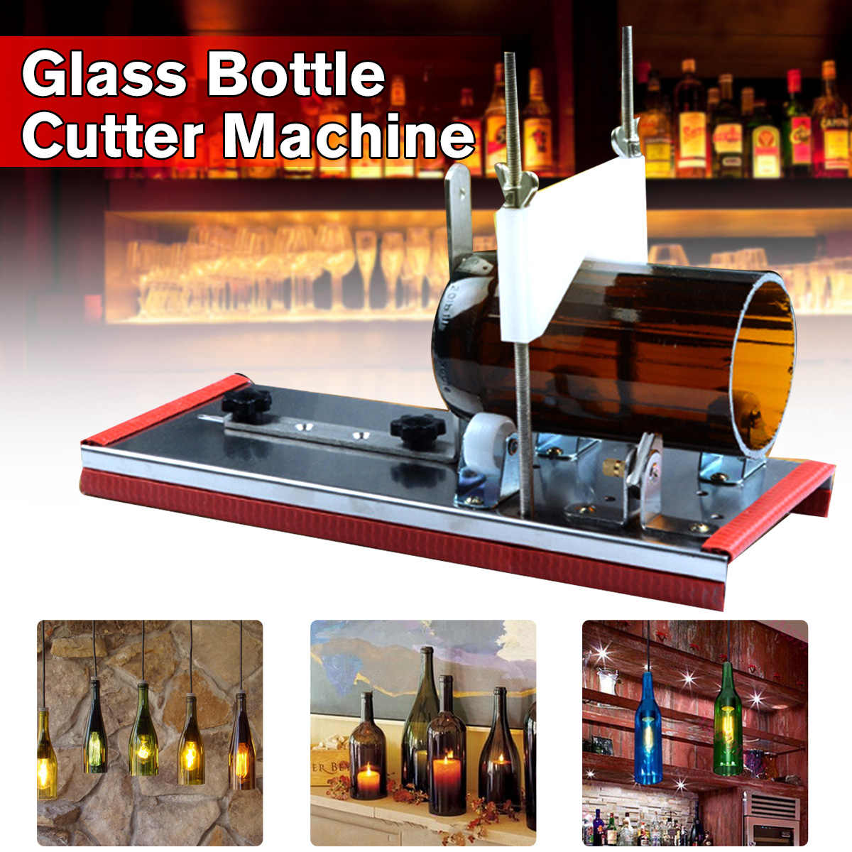 DIY Recycle Cutting Tool Kit Glass Bottle Cutter 2-10mm Beer Wine Jar Accurate Cutting Machine Stainless Steel Smoothly Cutting
