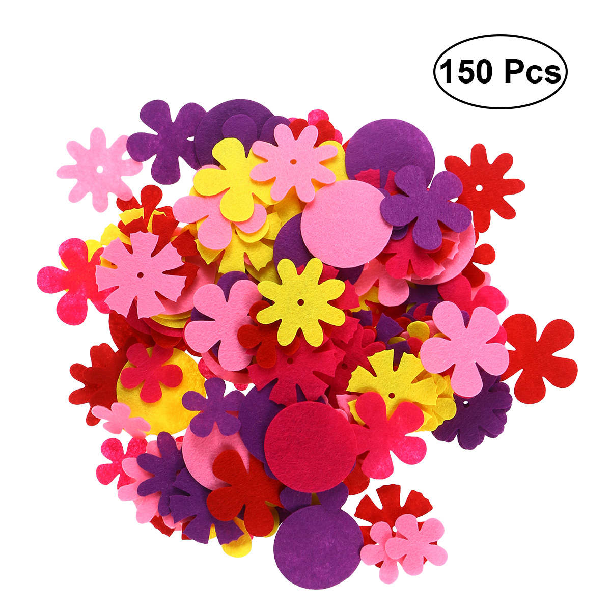 150pcs Felt Colorful Fabric Flower DIY Supplies Ornament For Invitation Cards Home Decor Handcraft Adults Children