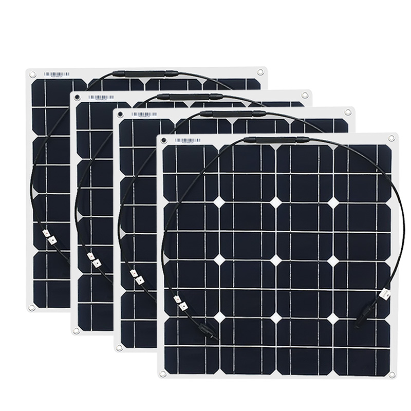 4x 50w Free Shipment Solar Panel Flexible 12V Solar System Solar Module Solar Cell Outdoor RV