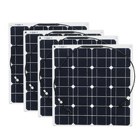 4x 50w Free Shipment Solar Panel Flexible 12V Solar System Solar Module Solar Cell Outdoor RV/Marine/Boat Cheap Sales