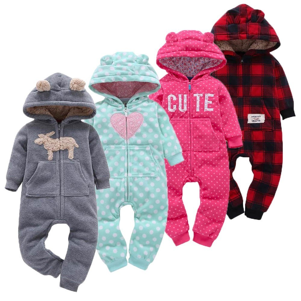 Winter Baby   Rompers   Cartoon Baby Boy Clothes Cotton Baby Girl Clothes Newborn Baby Clothes Roupas Bebe Infant Jumpsuits