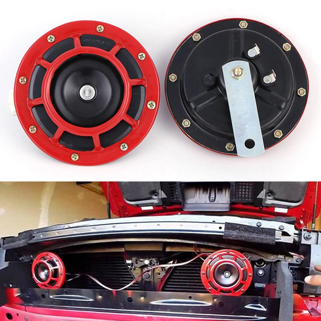 Red Auto Electrical System General Speaker Car 1.Easy replaceor new horn installation. Auto 12cm/4.7inches Horn
