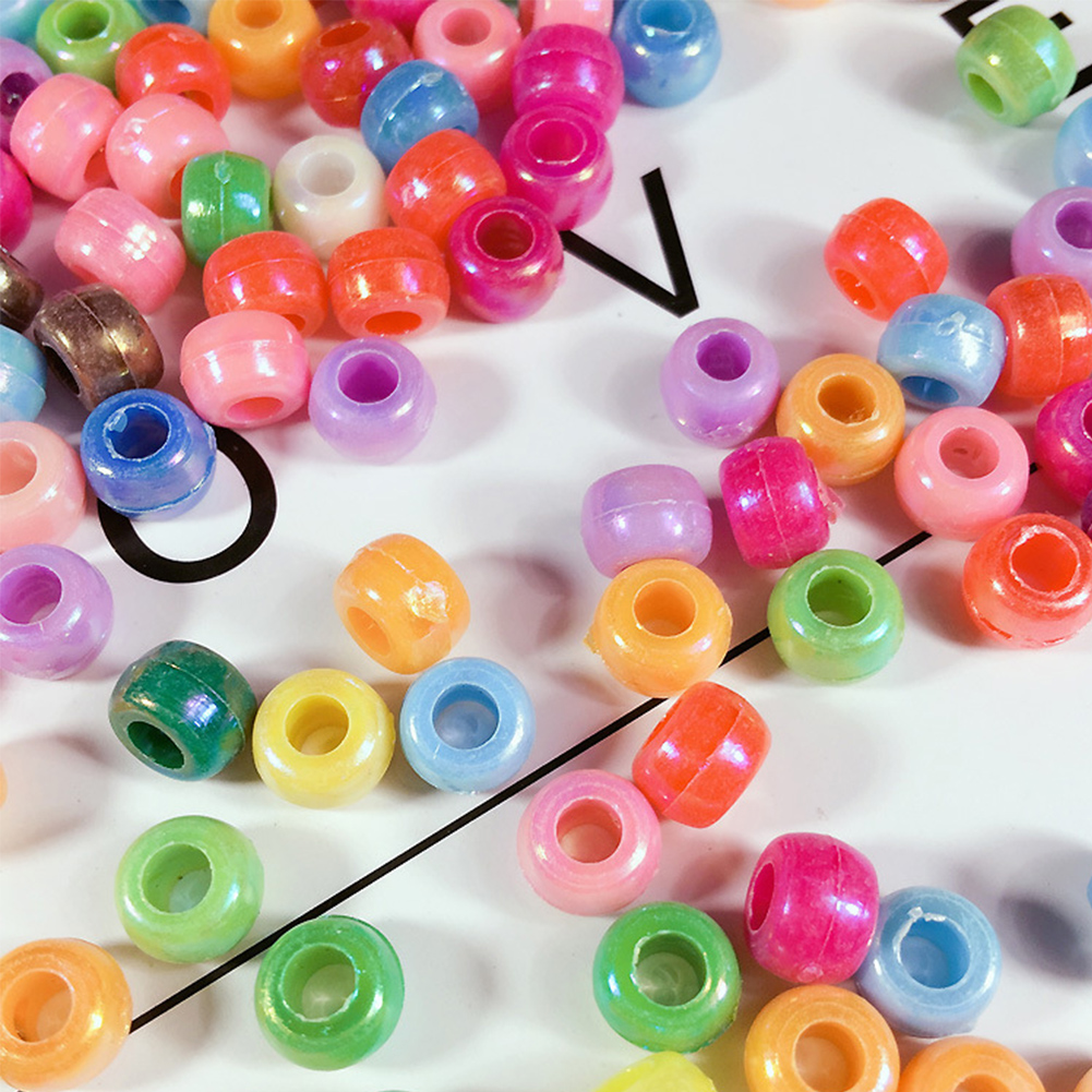 500 Pcs Beads Mixed Color Handcraft Assorted Color Glass DIY Spacer Jewelry Making Handmade Beads
