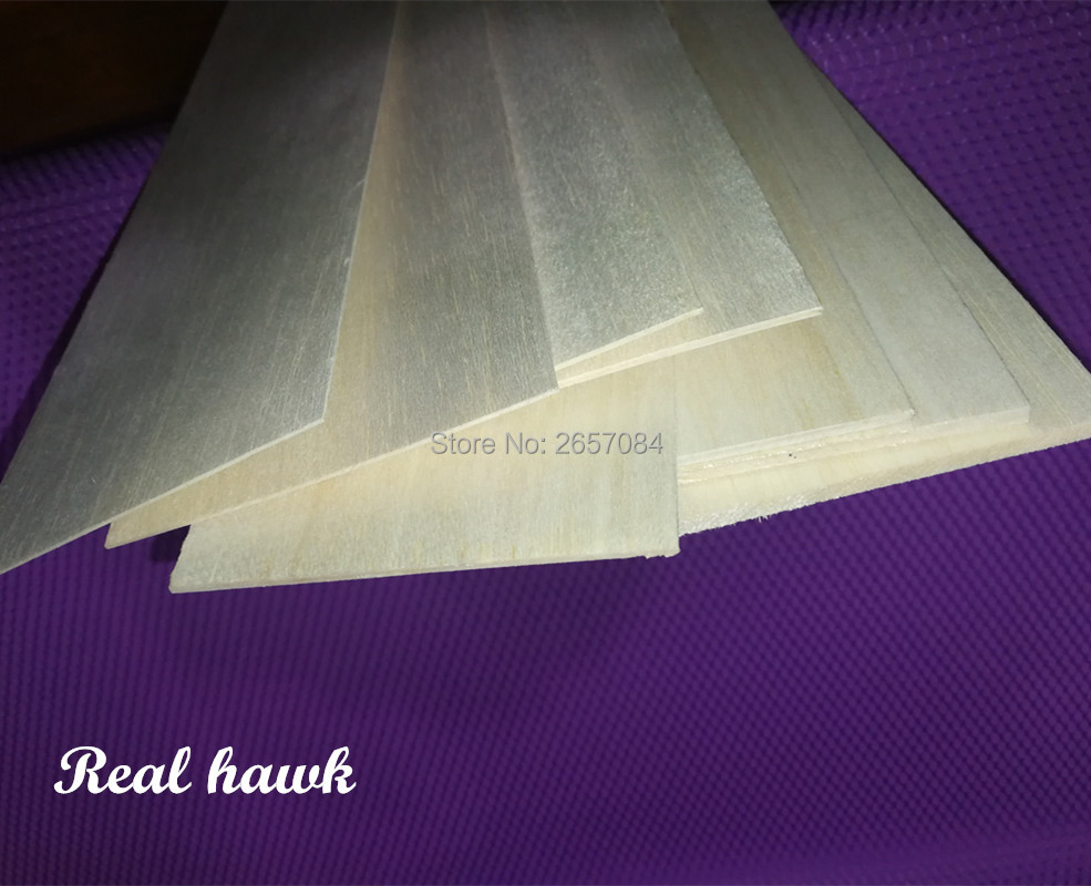 1000x100x3mm AAA Model Balsa Wood Sheets For DIY RC Model Wooden Plane Boat Material