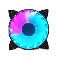COOLMOON Computer Case PC Cooling Fan RGB Adjust LED 120mm Quiet