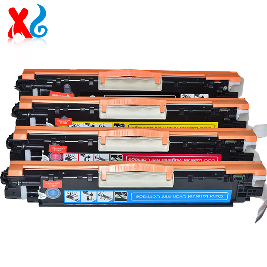 1Set CE310A Compatible Toner Cartridge Replacement for HP Color Laserjet CP1025nw CP 1025 Pro CP1025 100 Color MFP M175NW M175