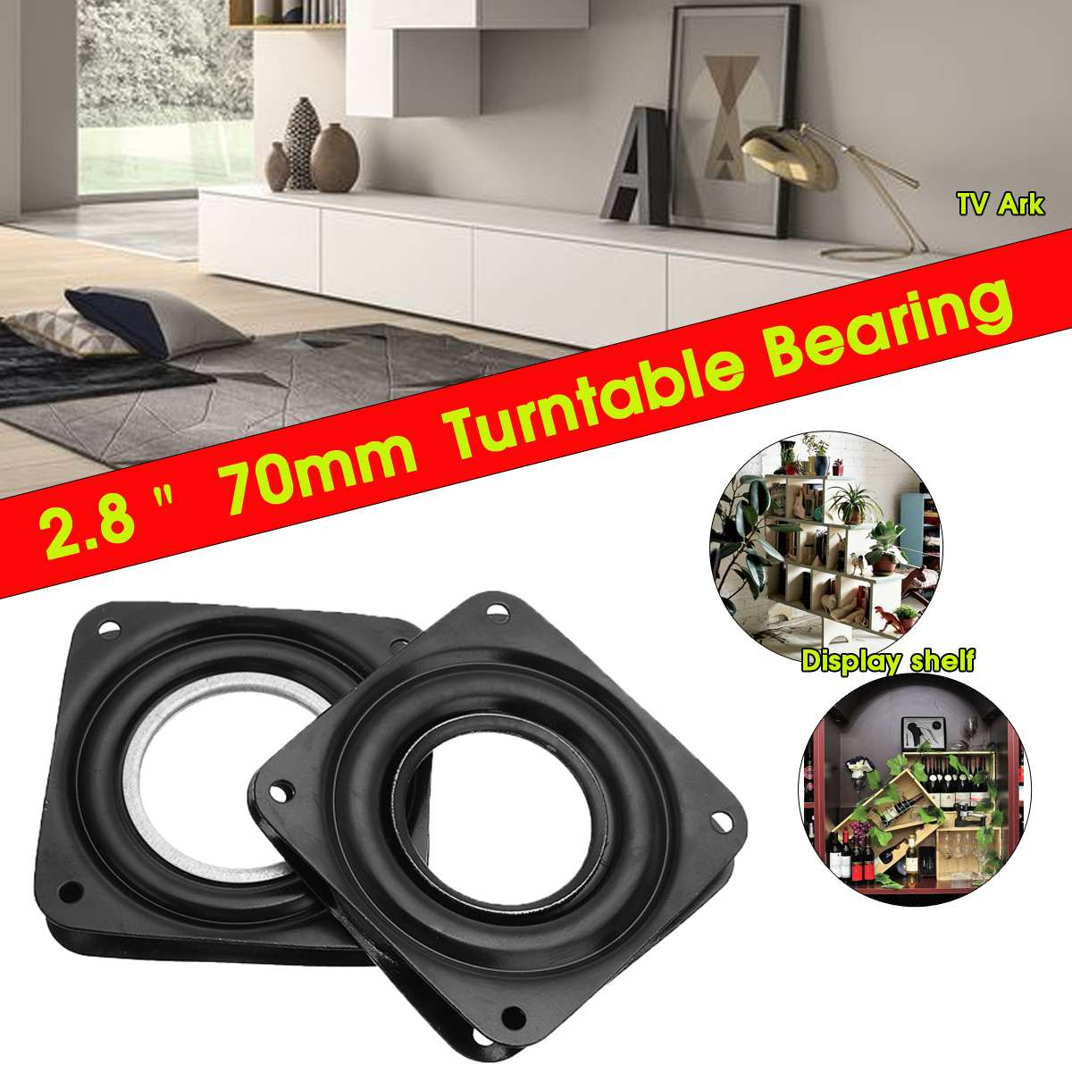 Search For Flights 3 Inch Rotating Plate Replacement Metal Lazy Susan Bearing Turntable Tv Rack Desk Seat Bar Tool 72mm X 72mm X 8.3mm Furniture Frames Furniture Parts