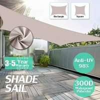 3x3x4.3 3x4x5 4x4x5.7 5x5x7.1 Kahki Triangle Extra Heavy Duty Shade Sail Sun Outdoor