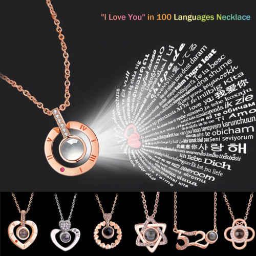 2019 новое ожерелье Lover I Love You кольцо из розового золота римские ювелирные изделия с