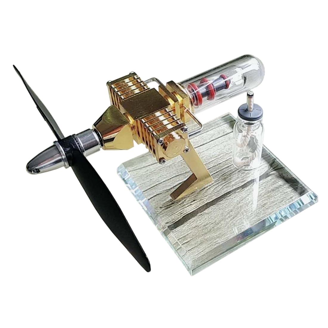 Hélice avion tête forme Stirling poche moteur modèle jouet pour développer l'intelligence éducation bricolage modèle jouet cadeau pour les enfants
