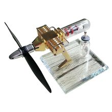 Propeller Aircraft Head Shape Stirling Pocket Engine Model Toy For Developing Intelligence Education DIY Model Toy Gift For Kids