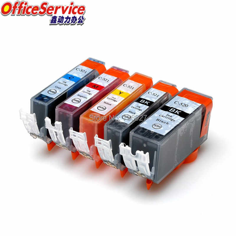 Kompatibel Ink Cartridge PGI-520 CLI-521 PGI520 CLI521 untuk Canon MP540 MP550 MP560 MP620 MP630 MP640 IP3600 MP980 MX870 Printer